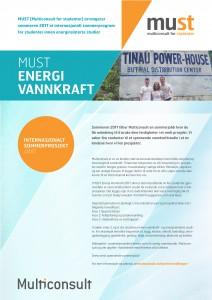 Plakat Must Energi Vannkraft 2017